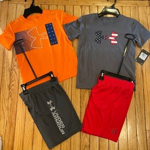Under Armour boys size 6 matching sets NWT